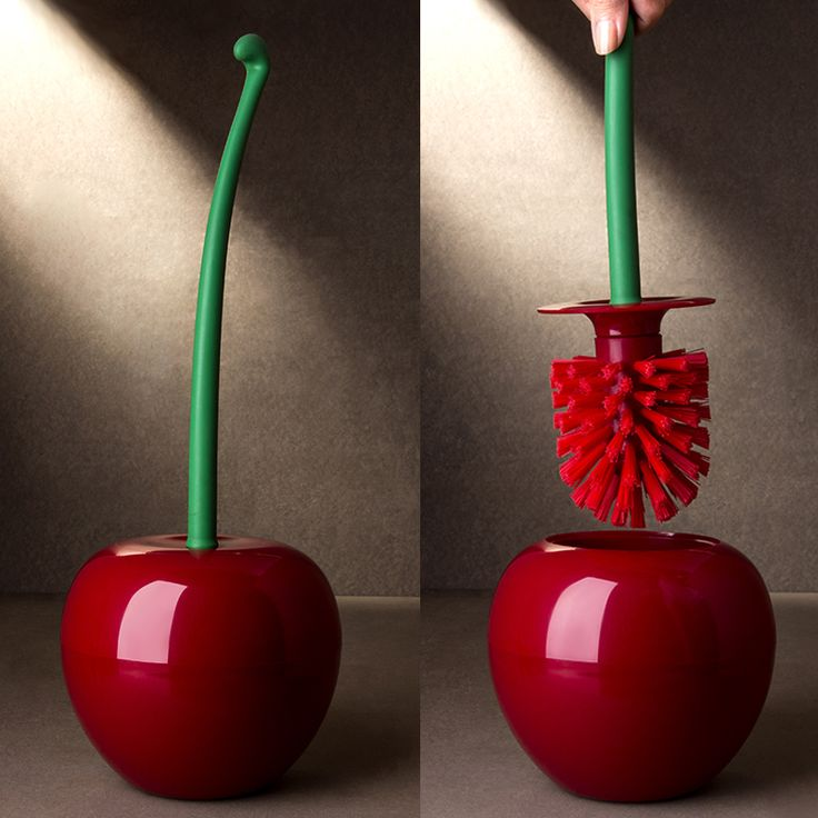 CHERRY Cherry is the brush holder and it's stem is the handle. Changing your old bathroom to be more stylish.