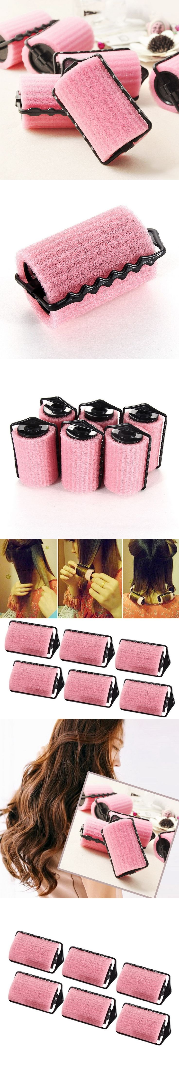 6pcs/set Magic Sponge Roller Curl Flexible Foam Hair Rollers DIY Hair Styling Curlers Hairstyle Rollers Hairing Curling Tools