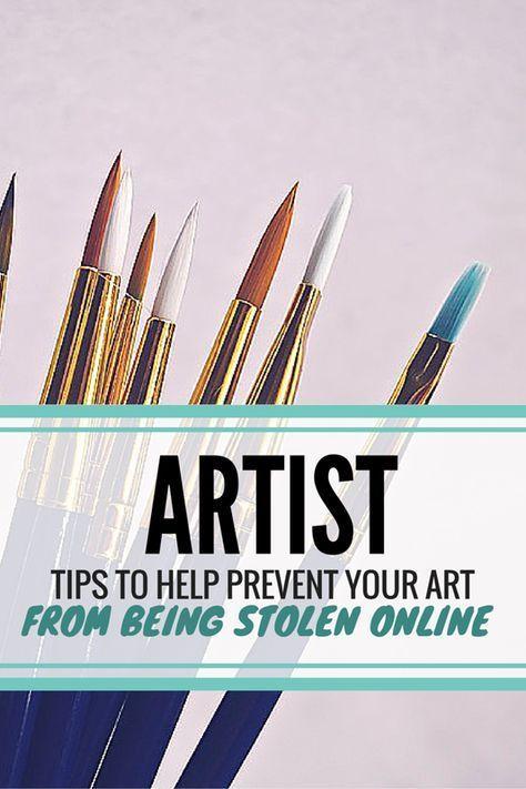 Artist Tips To Help Prevent Your Art From Being Stolen Online