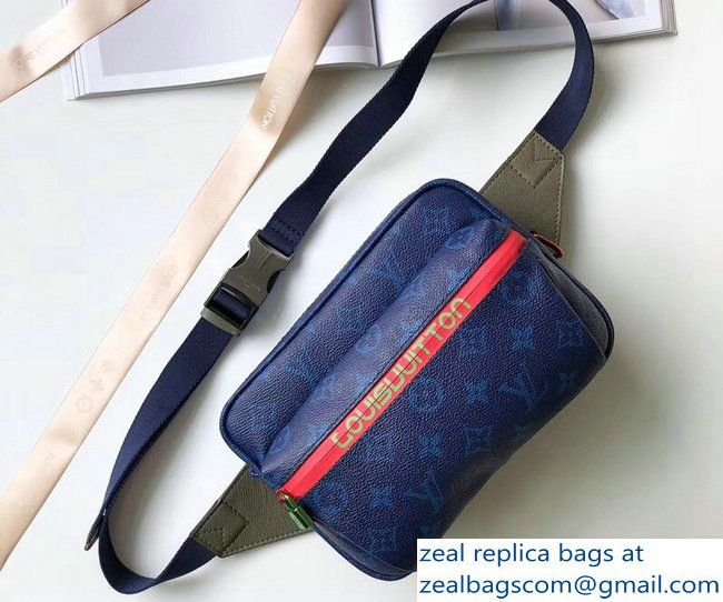 c5ea270e7ac3 Louis Vuitton Monogram Blue Canvas Bumbag Bag M43828 2018