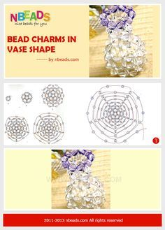 bead charms in vase shape