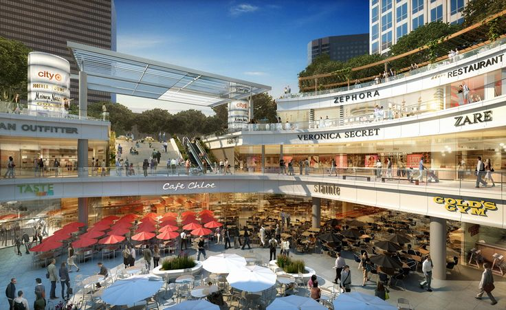 Concept for LA's Fig at 7th development.