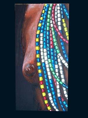 Portrait série Afrique, peinture par Flo con d'avoine