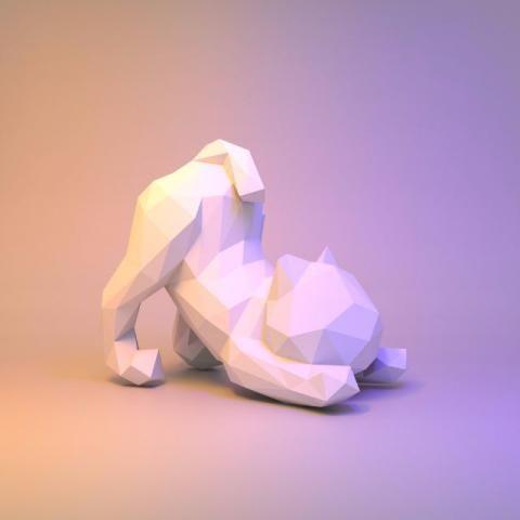 Papercraft Gato preguiçoso