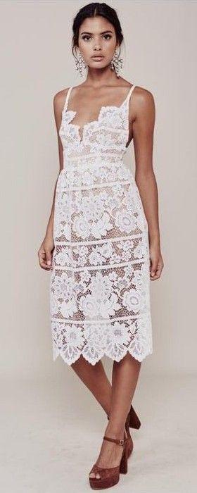 White Lace Gianna Little Dress |ForLoveAndLemons