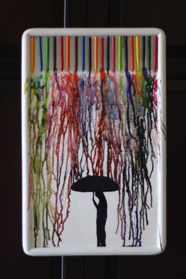 Crayon melting art images amp pictures becuo - Melted Crayon Art With Umbrella This Would Be Even Cuter With The Crayons In Rainbow