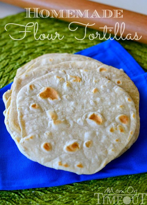 DO NOT buy store flour tortillas, yuck! INSTEAD here is an Easy Homemade Flour Tortillas MomOnTimeout.com