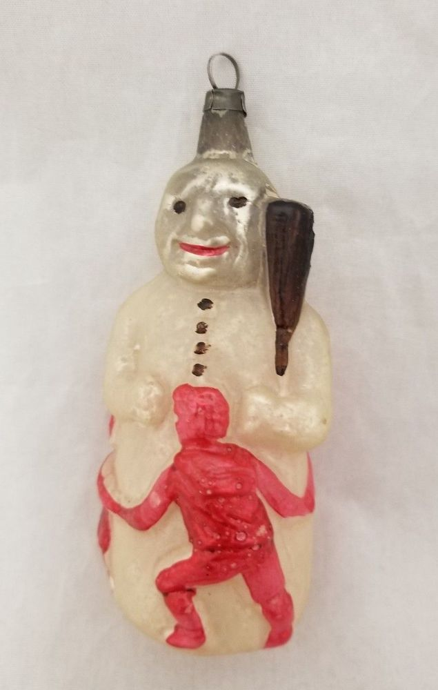 Details about Rare German 1910\'s Snowman with Dancing Children ...