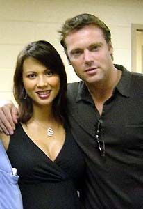 Michael Shanks and wife Lexa Doig