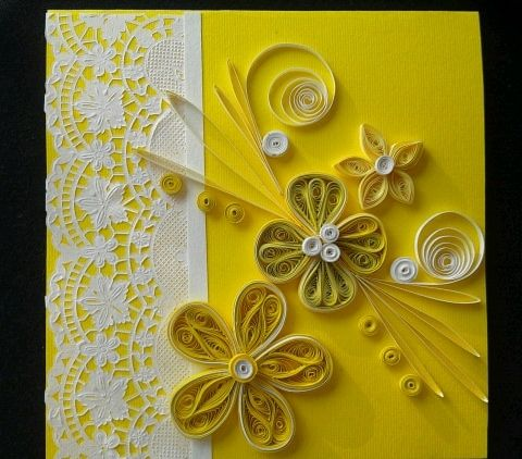 yellow quilling card https://www.facebook.com/pages/PokloniMe/861821820549351