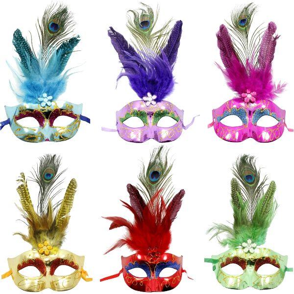 Egyptian Showgirl Peacock Mardi Gras Mask   Wally's Party Factory #MardiGras #maks