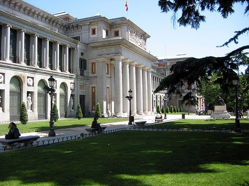 El Prado, Spain. A famous art museum , which contains many of the works of great Spanish painters.