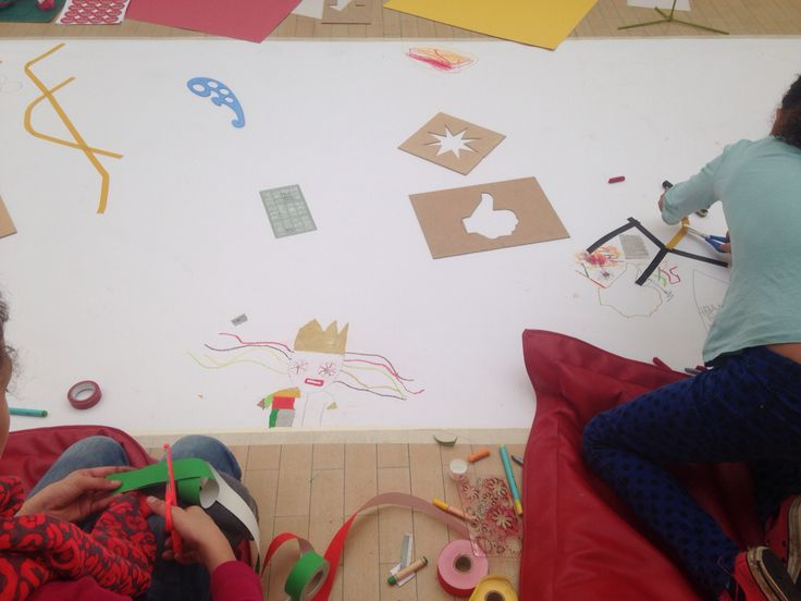'Clumsy Thoughts' SatARTday workshop at Leeds Art Gallery inspired by Elin Jakobsdottir, November 2014