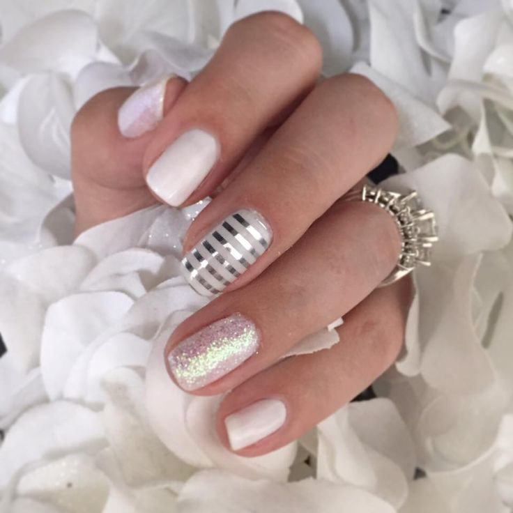 Gorgeous manicure using Porcelain and Bachelorette TruShine Gel along with…