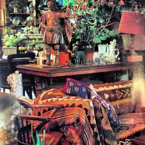 Margaret Olley's completely cluttered house. A true Bohemian.