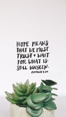 "So because our hope is set on what is yet to be seen, we patiently keep on waiting for its fulfilment. Rom 8:25   Richard Rohr writes, ""IF YOU ARE NOT trained in how to hold anxiety, how to live with ambiguity, how to entrust and wait—you will run—or more likely you will ""explain."" Not necessarily a true explanation, but any explanation is better than scary liminal space. Anything to flee from this terrible ""cloud of unknowing."""