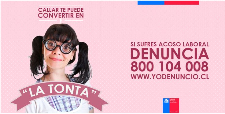 Campaña SERNAM, contra el acoso laboral #mobbing CCC: así te ven cuando no denuncias Creditos: Sebastian Orellana http://www.pinterest.com/sebaorellana/  Ariel Correa