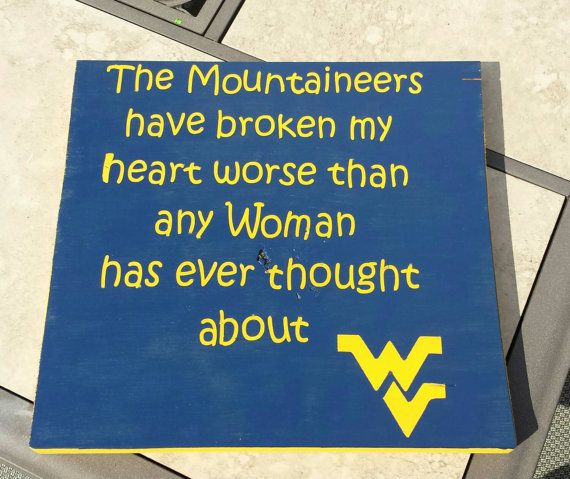 Mountaineers - WVU - WV Football - WVU Football - West Virginia - Mountaineer Football - Let's Go Mountaineers - Man Cave - wv Decor
