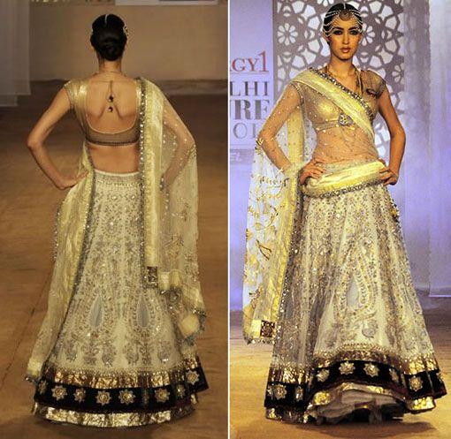 Gold & Silver Lengha Bridal Wear
