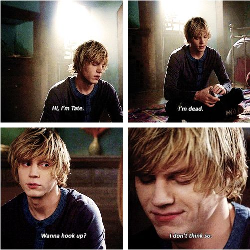 American Horror Story // Murder House // Tate Langdon // I want my own Tate. sometimes, I wish I was Violet