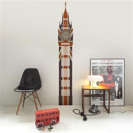 Funky Little Darlings Wall Clock - Union Jack Big Ben for my boys room