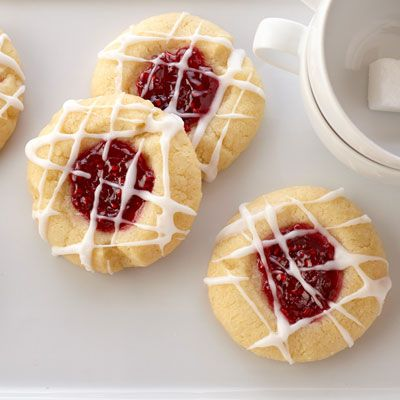 Raspberry Almond Shortbread Thumbprints: Special to serve, yet easy on ...