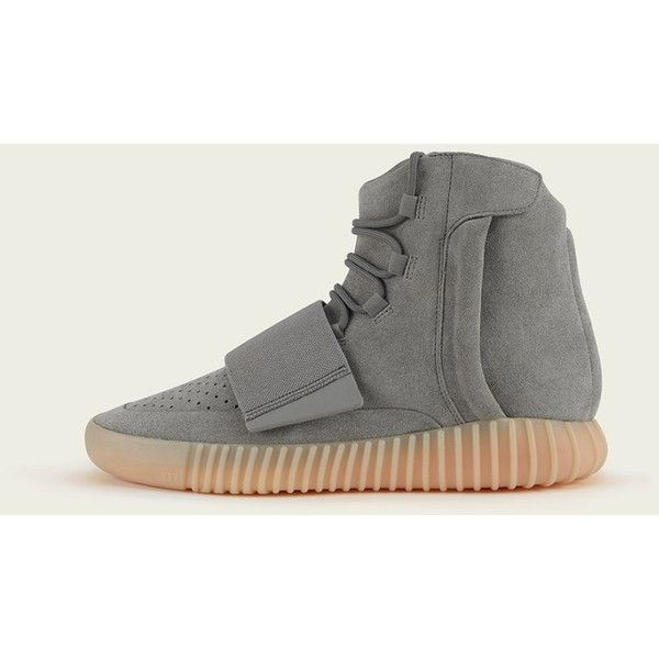 """Where to Buy """"Light Grey"""" Yeezy 750 Boosts ❤ liked on Polyvore featuring shoes"""