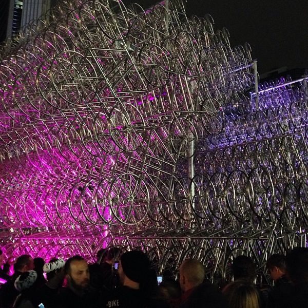 Forever Bicycles 2013 by Ai Weiwei at Toronto's Scotiabank Nuit Blanche