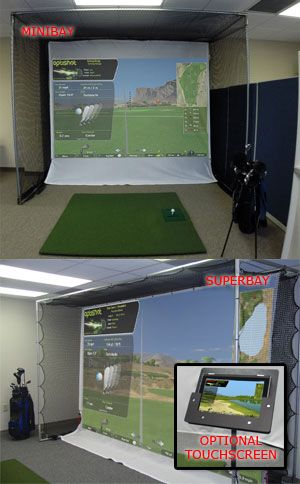 Optishot 2 or P3ProSwing Complete Home Golf Simulator with MiniBay™ or SuperBay™