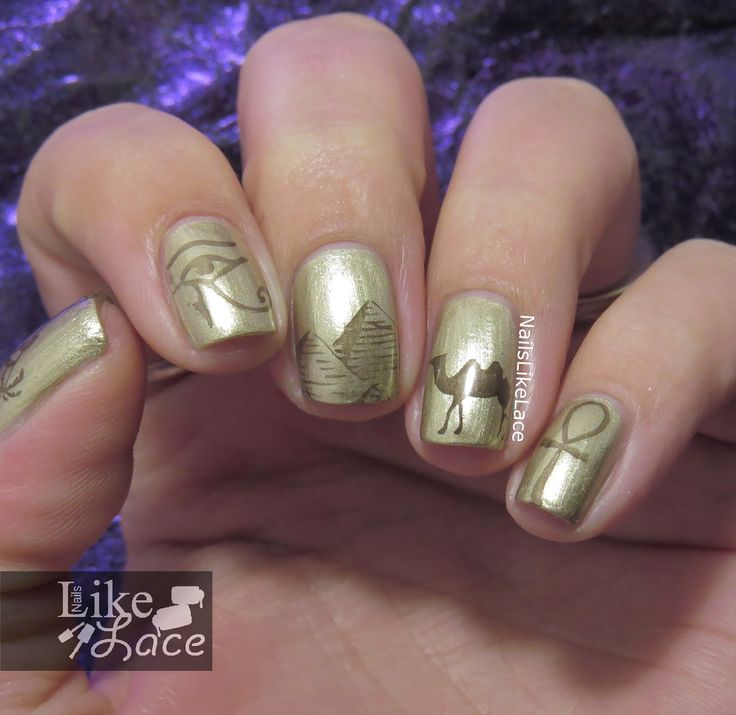 Egyptian Nails featuring Zoya Severine