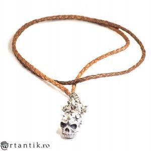 colier Tibetan Skull - argint