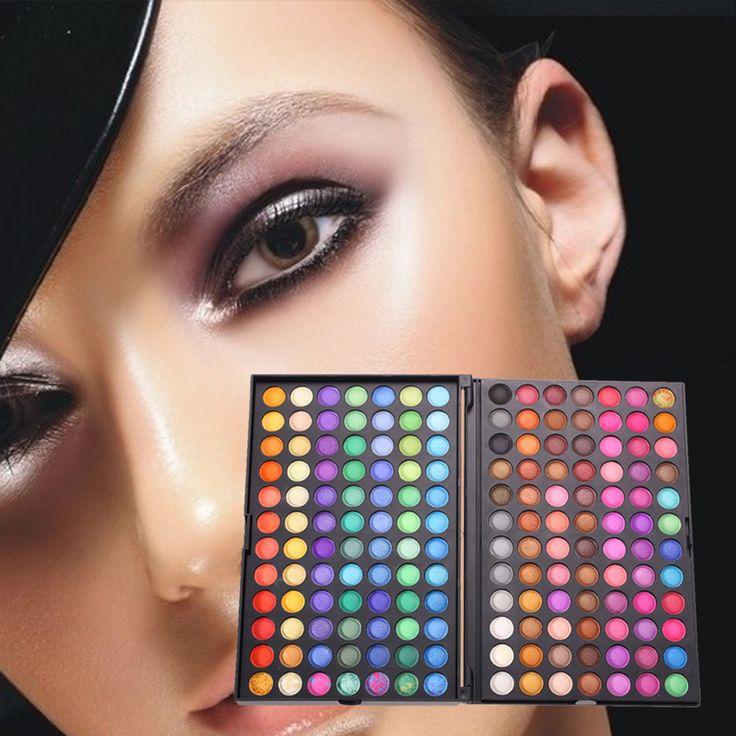 Professionelle 168 Farben Maquiagem Lidschatten Make-Up Palette Pigmentierte Neutral Schimmern Matt Lidschatten Set Kosmetik Produkt