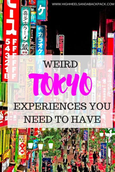 "Weird things to do in Tokyo - The very best ""only in Japan"" type experiences that you need to have before you leave."