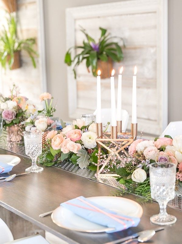 Modern Blush, Blue & Rose Gold Wedding Inspiration