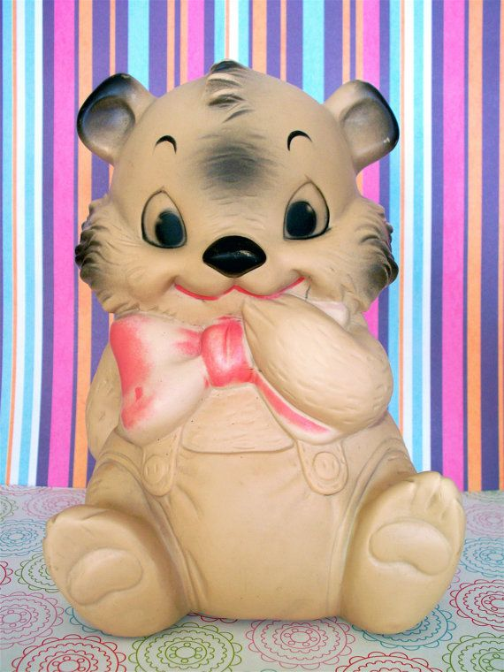 Vintage Kitsch Squeaky Squeak Bear Ashland Rubber by modpets,