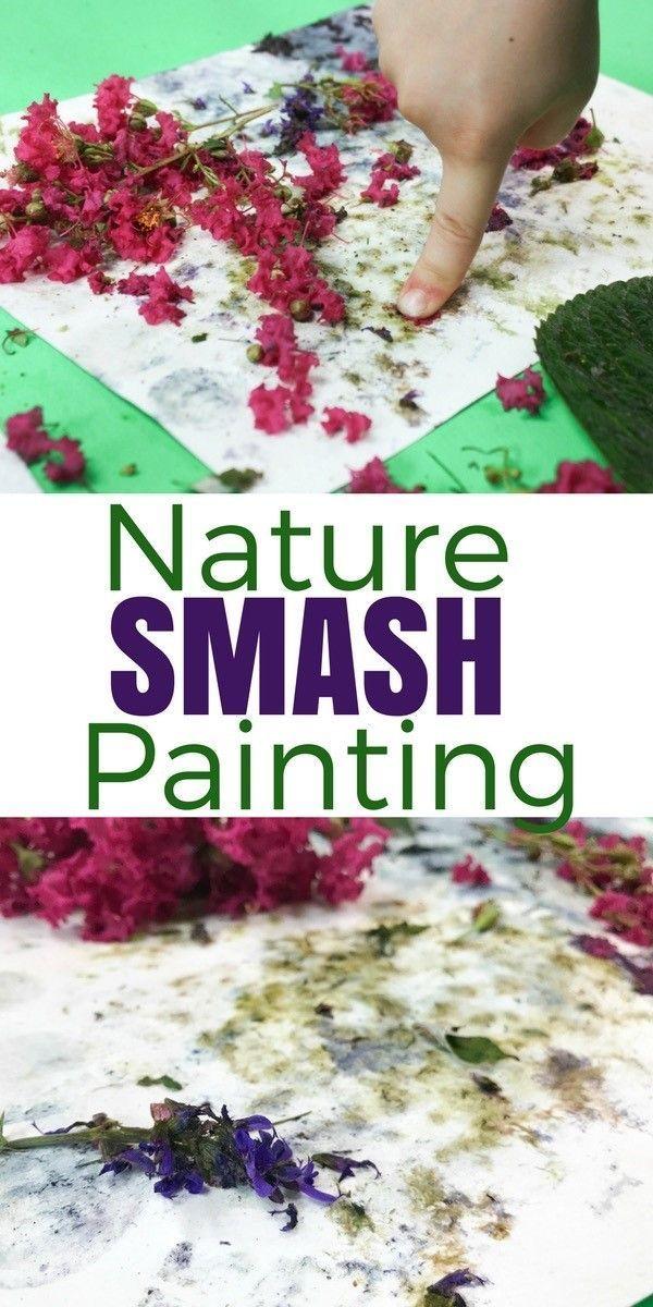 Nature Smash Painting – Process Art pour enfants