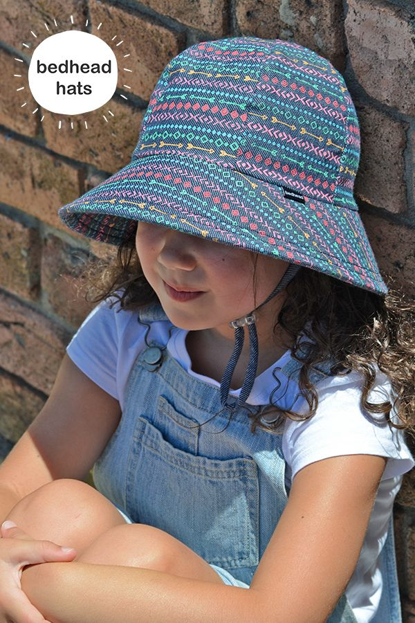 Oh hey there Chicquita! Bedhead's kids bucket sun hat is rated UPF 50+ and is made from super soft cotton which is not only comfy, but keeps their head cool on hot days! #bedheadhats #kidshats #kidsfashion