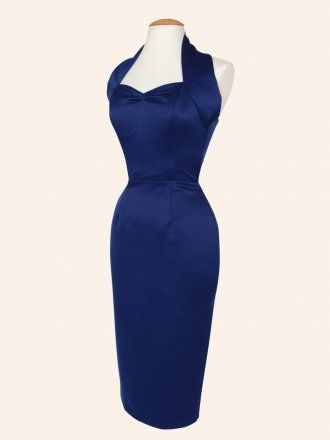 Halterneck Pencil Blueberry Duchess Dress - think this is nice?? that dress we both liked before is all sold out! :( x