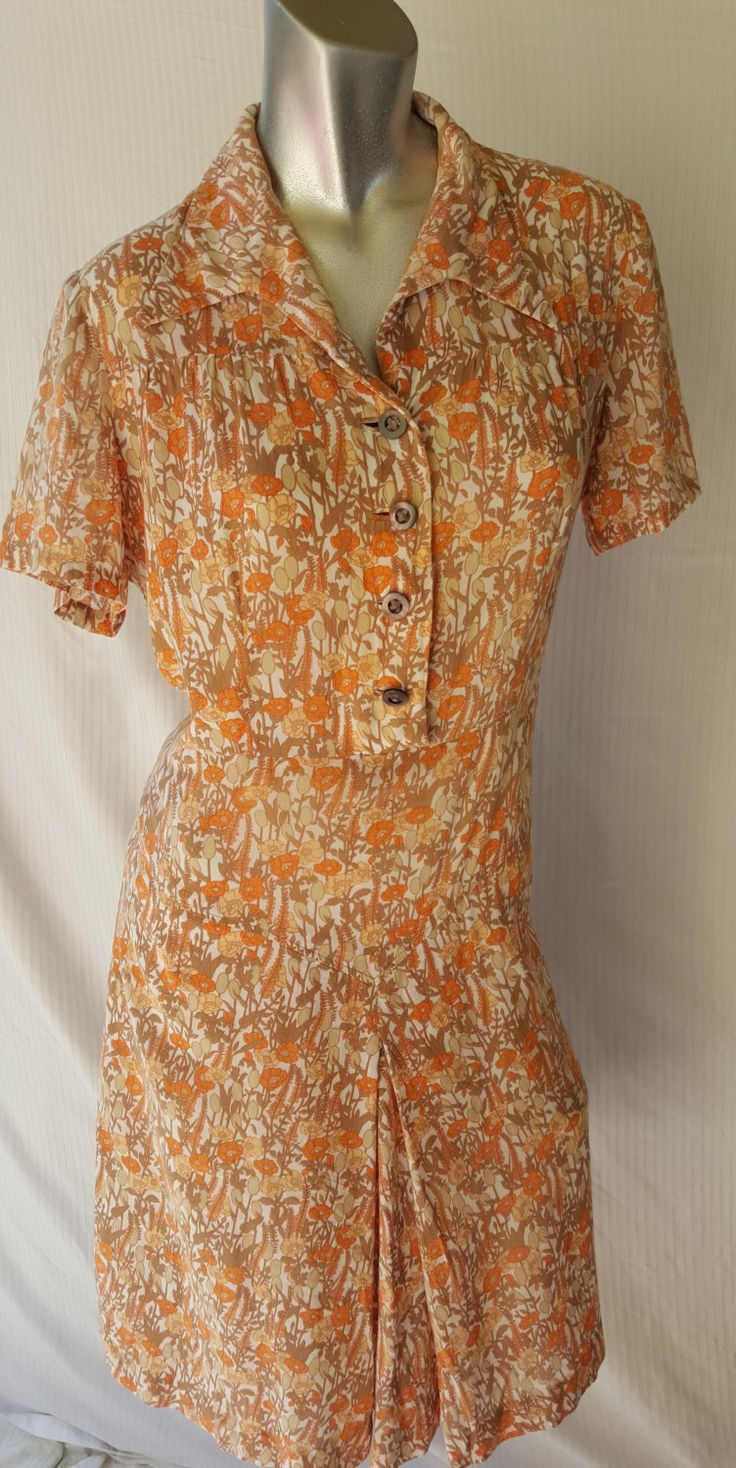 Vintage Italian designed and made 60s floral dress. Size 10-12  FREE FREIGHT WORLDWIDE by PippiLime on Etsy