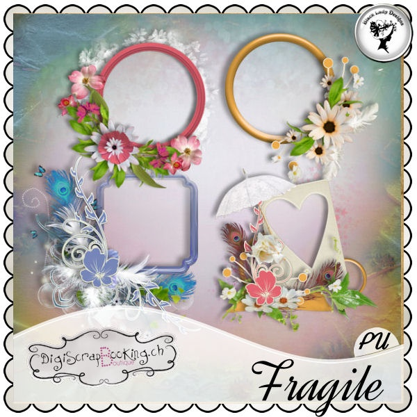 Fragile - Frames by Black Lady Designs