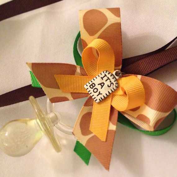 Jungle Baby Shower Pacifier Necklace (Dozen) on Etsy, $20.99