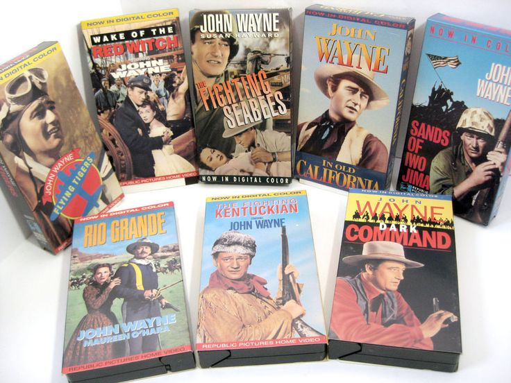 The John Wayne Larger than Life Collection VHS 8 Tapes Vintage Video