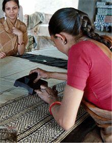 artisan block printing in Bagru, near Jaipur, for Mehera Shaw