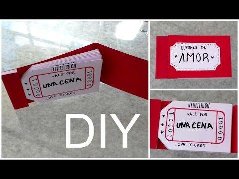 DIY ♡ CUPONES DE AMOR ♡ DETALLES PARA MI NOVIO - YouTube