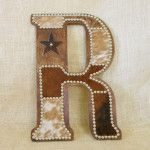 Cowhide Wall Letter