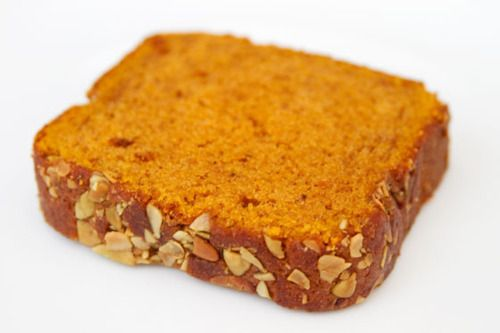 Starbucks Pumpkin Bread1 1/2 Cups All Purpose Flour1 teaspoon baking powder1/2 teaspoon baking soda1/3 cup butter (melted)1 can of soli...