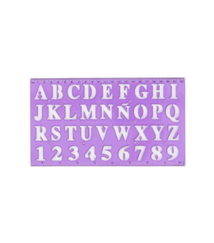 règle alphabet