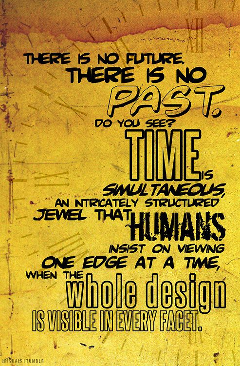 Time Watchmen Quote Poster 11x17 by painteddoll on Etsy, $10.00