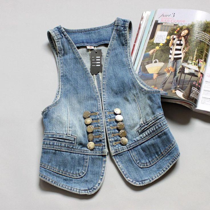 джинсовый жилет женский