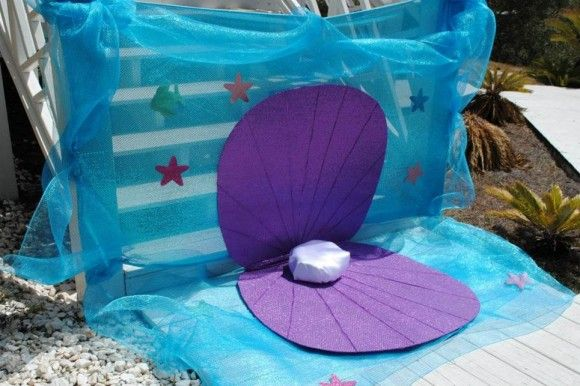 Under the Sea Birthday Party | Little Mermaid Birthday Party | Girl's Birthday Ideas | Oyster Portrait Station